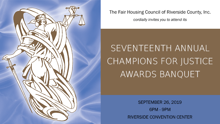 Seventeenth Annual Champions for Justice Awards Banquet