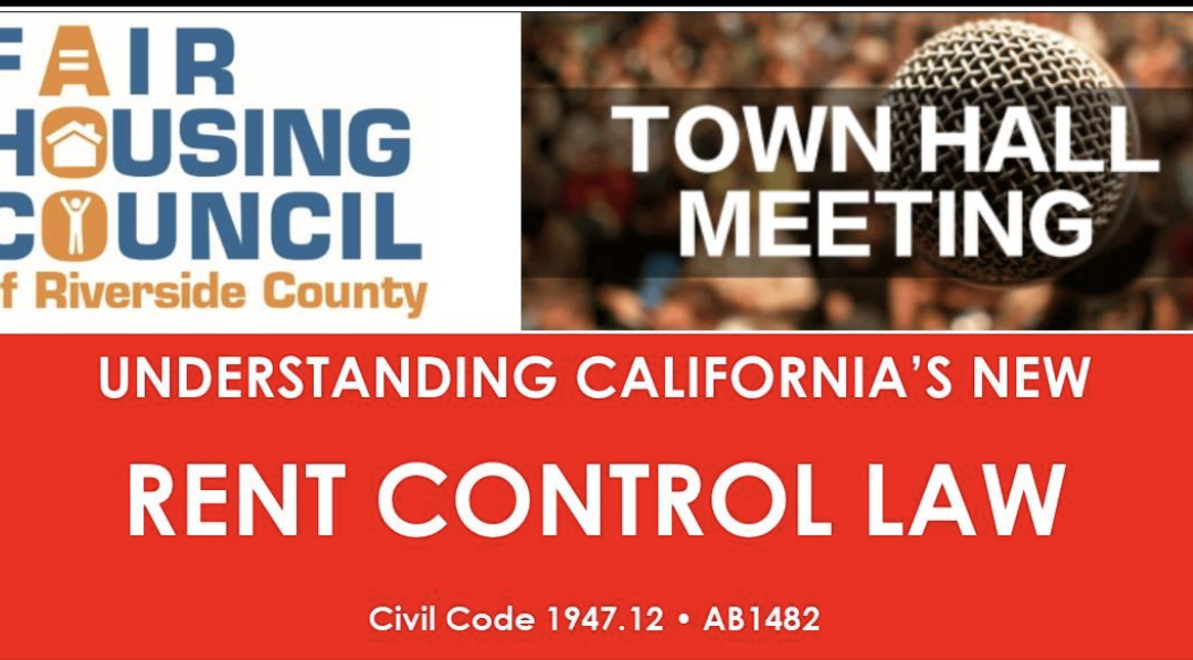 Town Hall Meeting – Rent Control Law