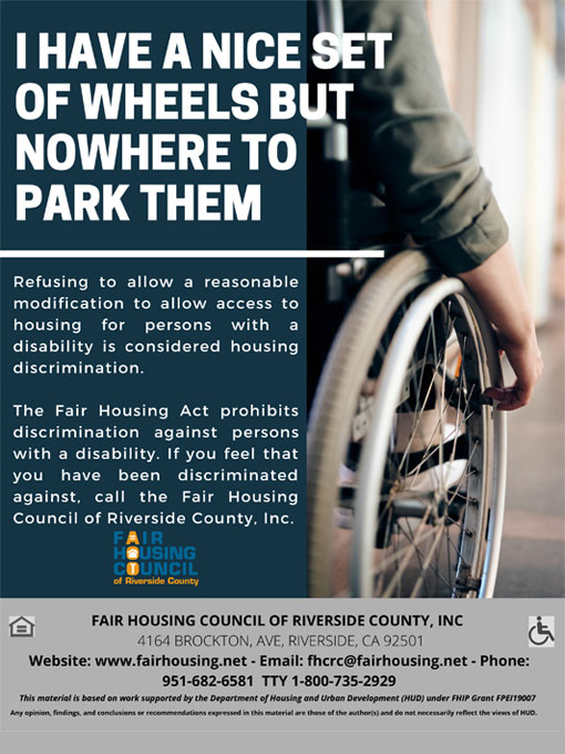 PSA Housing Discrimination - Disability