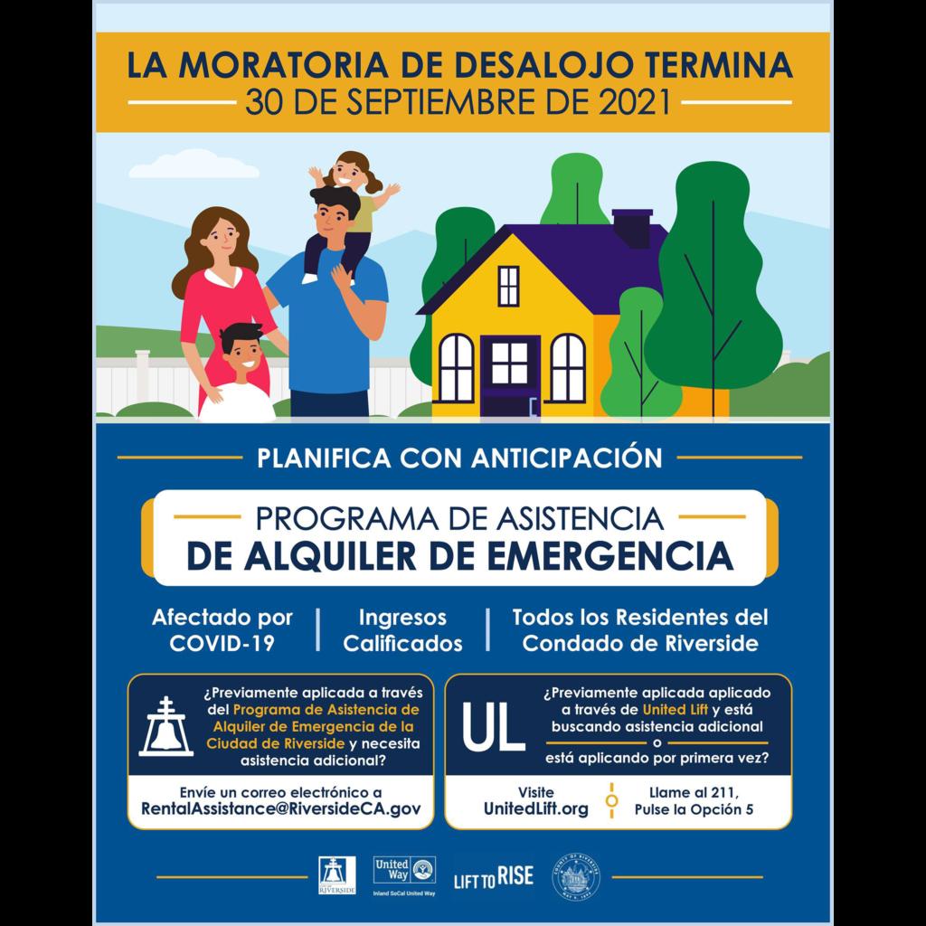 CA Eviction Moratorium Spanish